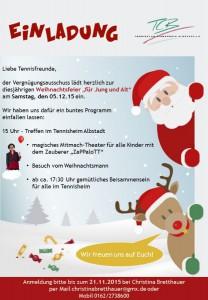 Einladung Weihnachtsfeier 2015