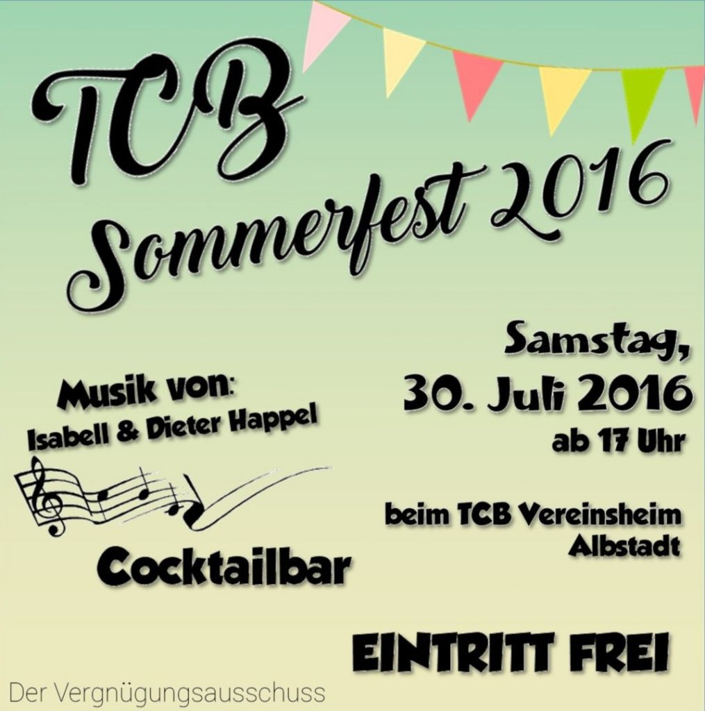 Einladung Sommerfest 2